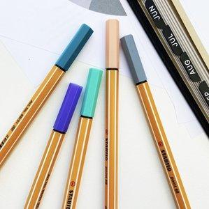 Set van 5 Stabilo fineliners - kleurenthema 'vintage'